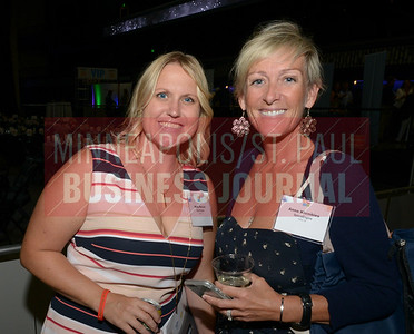 Molly McCort (left) and 2015 Women in Business award winner Anna Klombies of SportsEngine.