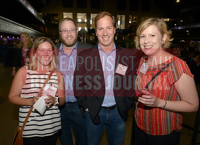 From left, Callie Burris, Andy Boettcher, Chris Dahlberg and Ane Fritzke of Demand Chain. Demand Chain was a Best Places to Work award winning company in the extra small catagory.