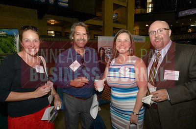 From left, Sofia Shaw, Rob Schmidt, Best Places to Work MVP Sarah Evenson and Thomas Evenson.