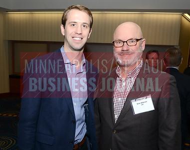 Pierce Norton (left) of BMO Harris Bank and Eric Gibson of UMC