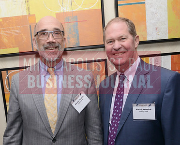 Charles Mueller (left) and Mark Paetznick of Fidelity Bank