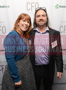 """CFO of the Year honoree Sandra """"Sam"""" Buehler of Pope Architects Inc and Dwight Buehler"""
