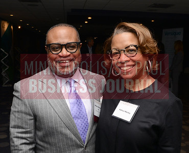 CFO of the Year honoree Arthur Alexander III of the Minnesota State Lottery and Kathryn Mackey
