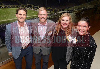 From left, Blake Sloan, Casey Campbell, Lindsey Klein and Emily Smith of APi Group