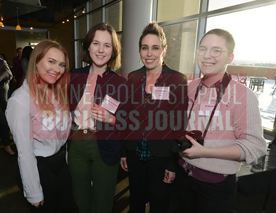 Find Your Power founder, Ivy Kaminsky (second from right) attended Mentoring Monday as a mentor and brought along Find Your Power interns from left, Laurel  Hedtke, Kristina Van Deusen and El Horsfall