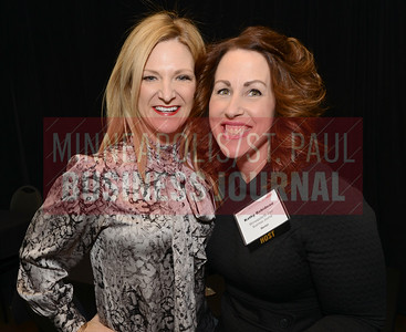 True Talent Group CEO Stacey Stratton (left) and Minneapolis/St. Paul Business Journal publisher, Kathy Robideau, were both mentors at the MSPBJ Mentoring Monday event in St. Paul.