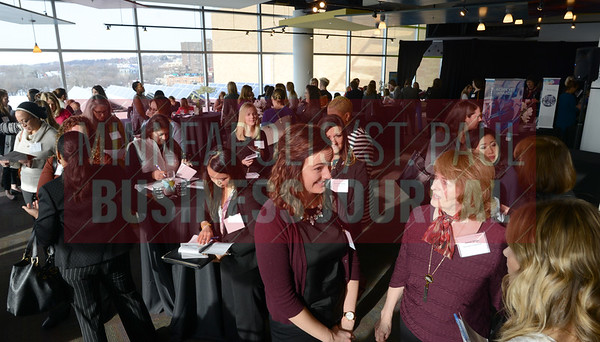 Women gathered at Mentoring Monday at the Minnesota Science Museum in St. Paul.