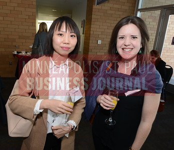 Former Carlson School of Management classmates Bonita Wong (left) and Kallie Aultman of Patterson Companies. Wong is still a student at the Carlson School.