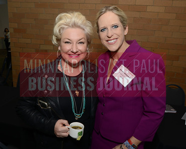 Lola Red CEO Alexis Walsko (left) and Prosperwell Financial CEO Nicole Middendorf both mentored attendees at the Minneapolis /St. Paul Business Journal's Mentoring Monday at the Minnesota Science Museum.