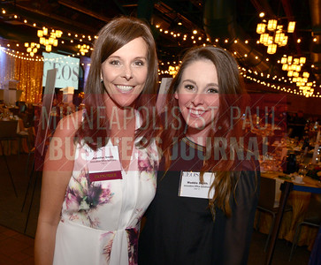 2018 Most Admired CEO Jennifer Smith of Innovative Office Supplies poses with her daughter Maddie for a photo at the Most Admired CEO event held at Nicollet Island Pavillion.