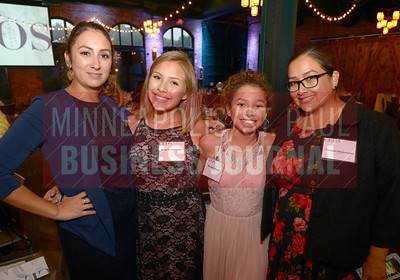 Friends and family of 2018 Most Admired CEO Joseph Nayquonabe from left, Wendy Merrill, Bella Nayquonabe, Nevaeh Merrill and Christina Nayquonabe.