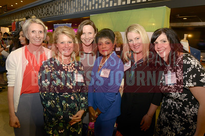 Anne Draxler, Julie Dickman, Amy Pressnall, Barbara Butts Williams, Christina Skinner and Angela Jarvis of Capella University were in attendance at the 2018 Women in Business event.