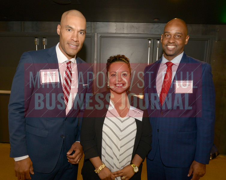 From left, Anthony Lando, Nayana Jha and Anthony George or Bank of America