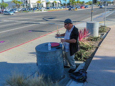 Harbor Blvd Drummer Guy March 2018