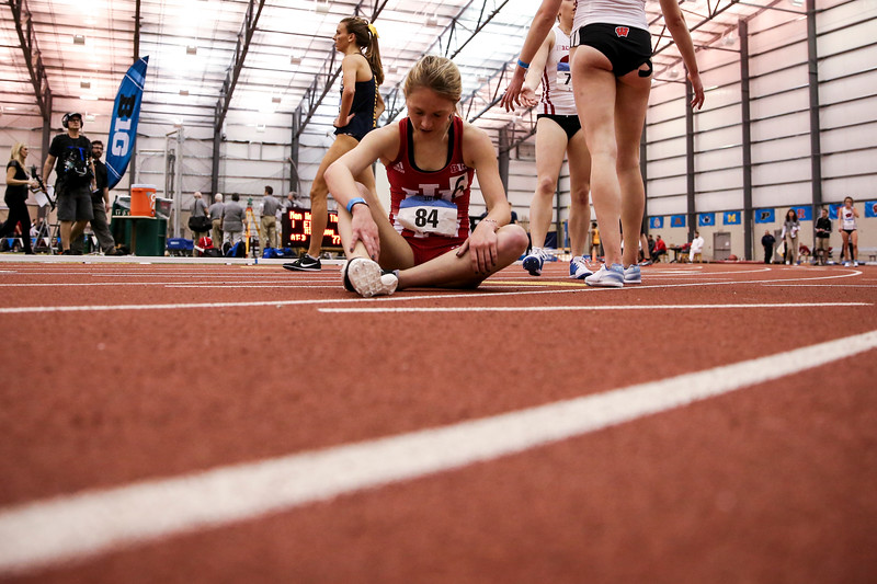 GENEVA, OH - February 24, 2018 - Katherine Receveur of the Indiana Hoosiers during the Indoor Big Ten Championships at the SPIRE Institute in Geneva, Ohio. Photo by Steven Leonard/Indiana Athletics