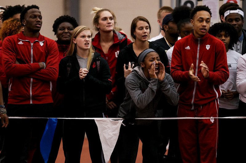 GENEVA, OH - February 24, 2018 - Aalyiah Armstead of the Indiana Hoosiers during the Indoor Big Ten Championships at the SPIRE Institute in Geneva, Ohio. Photo by Steven Leonard/Indiana Athletics