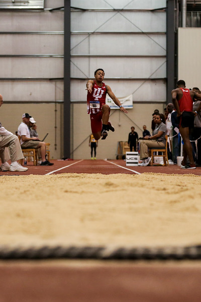 GENEVA, OH - February 24, 2018 - Eric Bethea of the Indiana Hoosiers during the Indoor Big Ten Championships at the SPIRE Institute in Geneva, Ohio. Photo by Steven Leonard/Indiana Athletics
