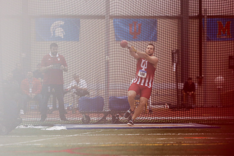 GENEVA, OH - February 24, 2018 - Andrew Miller of the Indiana Hoosiers during the Indoor Big Ten Championships at the SPIRE Institute in Geneva, Ohio. Photo by Steven Leonard/Indiana Athletics