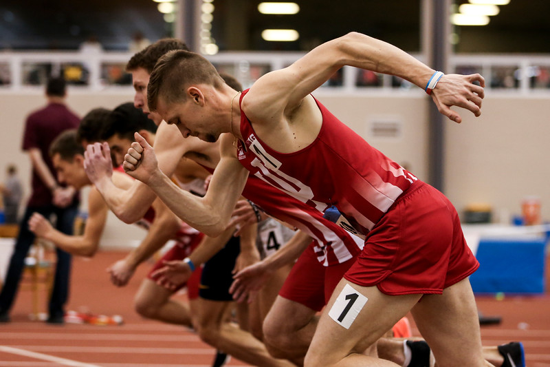 GENEVA, OH - February 24, 2018 - Joe Murphy of the Indiana Hoosiers during the Indoor Big Ten Championships at the SPIRE Institute in Geneva, Ohio. Photo by Steven Leonard/Indiana Athletics