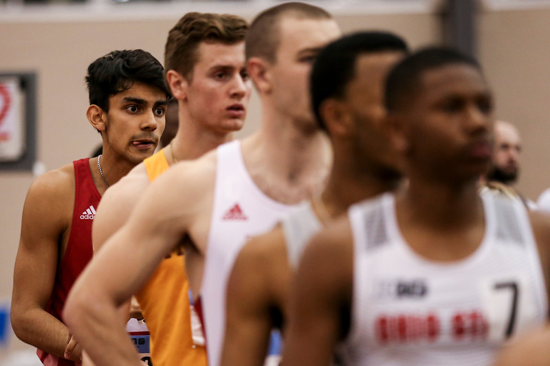 GENEVA, OH - February 24, 2018 - Zubin Mancherji of the Indiana Hoosiers during the Indoor Big Ten Championships at the SPIRE Institute in Geneva, Ohio. Photo by Steven Leonard/Indiana Athletics