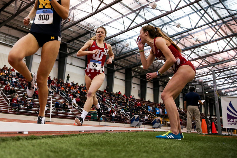 GENEVA, OH - February 23, 2018 -- Hannah Stoffel of the Indiana Hoosiers during the Indoor Big Ten Championships at the SPIRE Institute in Geneva, Ohio. Photo by Steven Leonard/Indiana Athletics