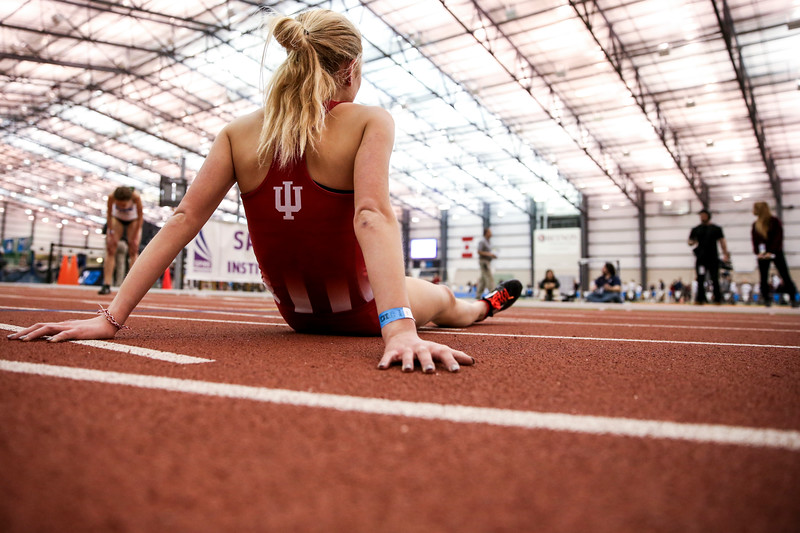 GENEVA, OH - February 24, 2018 - Maggie Allen of the Indiana Hoosiers during the Indoor Big Ten Championships at the SPIRE Institute in Geneva, Ohio. Photo by Steven Leonard/Indiana Athletics
