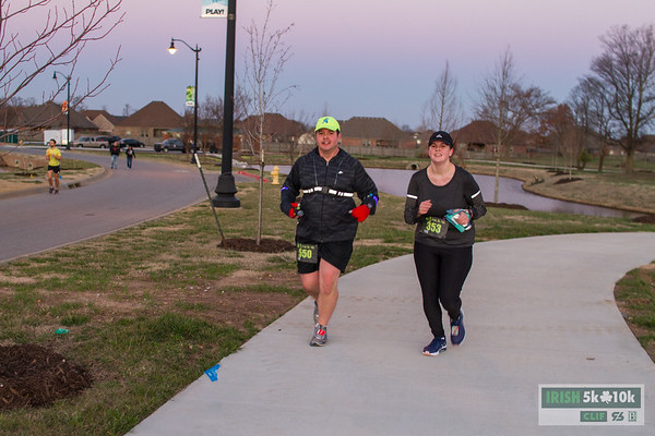 Runners came out to the Bentonville Community Center to take on their luck running the Irish 5k/10k.
