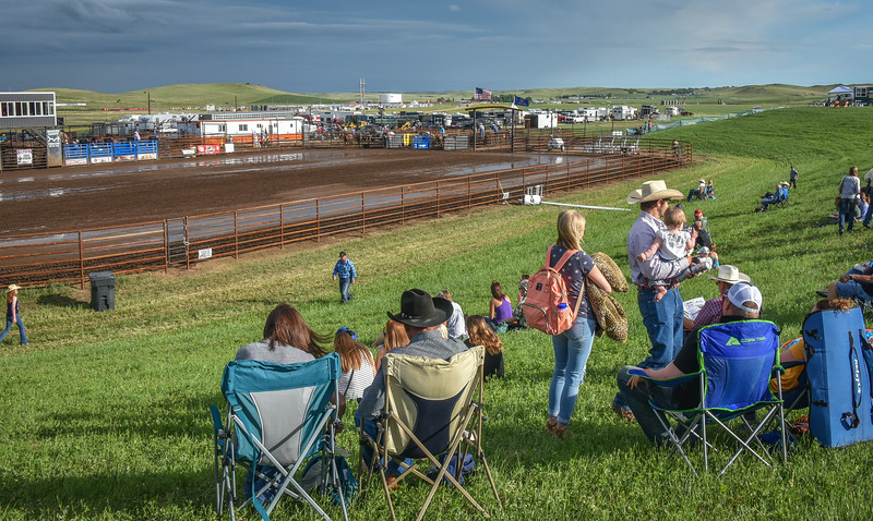 Overlooking the Arena at the Killdeer Mountain Roundup Rodeo  July 3, 2018