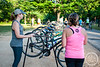 Ladies took to the trails at Lake Fayetteville for Fayetteville Parks and Recreation's Ladies DU consisting of a 2 mile run, 11 mile bike, and another 2 mile run.