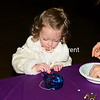 Addy Grace Smith decorating her mask