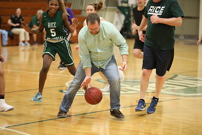 2018 Teacher vs Senior Basketball game 02.02