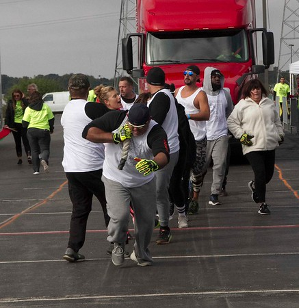 Bob Hickey | For The Herald Bulletin<br /> Team Guns and Buns finishes their pull.