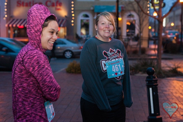 Despite the bitter cold and freezing rain, runners came out to spread a little Valentines Day love at Bentonville's Vanlentines 4k/8k.