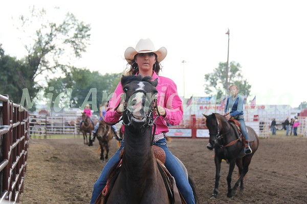 Barrel racer warming up.
