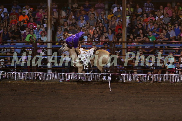 Trick rider Lindy Nealey