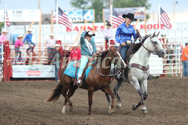 Lea Stewart, 2018 Jr. Miss Wapello Rodeo (left)