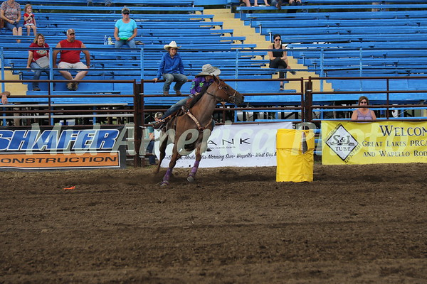 Barrel racer Molly