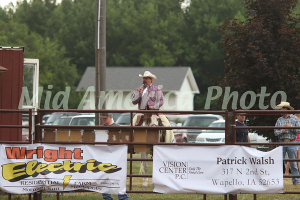 Rodeo announcer Kelly Kenney
