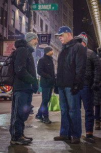 Homeless census group with Mayor Walsh at Downtown Crossing