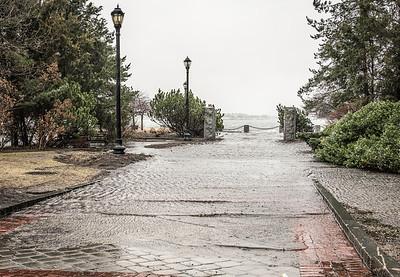 Pilot House Harborwalk flooded