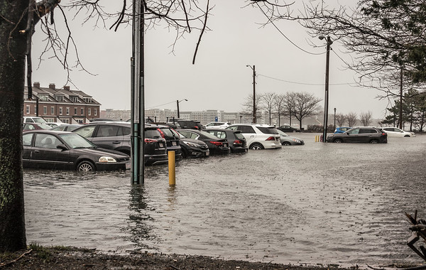Flooded Sargent's Wharf