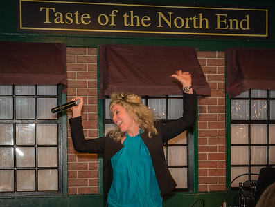 Vanessa Salvucci brings the spirit and entertains on the stage at Taste of the North End