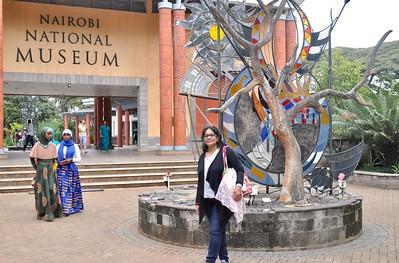 At the Nairobi National Museum