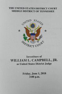 Investiture William L. Campbell, Jr. 2018