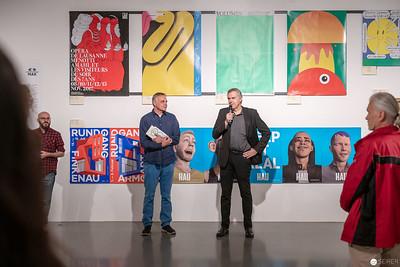 """""""100 BESTE PLAKATE 17"""" mit Christoph Thun-Hohenstein (re) und Peter Klinger (li)"""