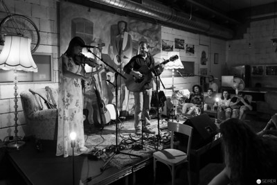 Shane Ó Fearghail in concert at Cafe Siebenstern, 2018-07-27