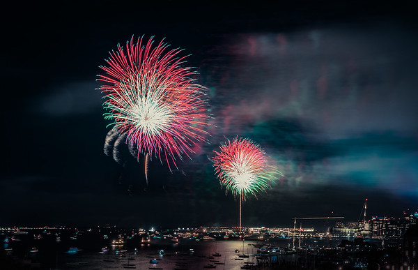 Labor Day Weekend Fireworks over Boston Harbor