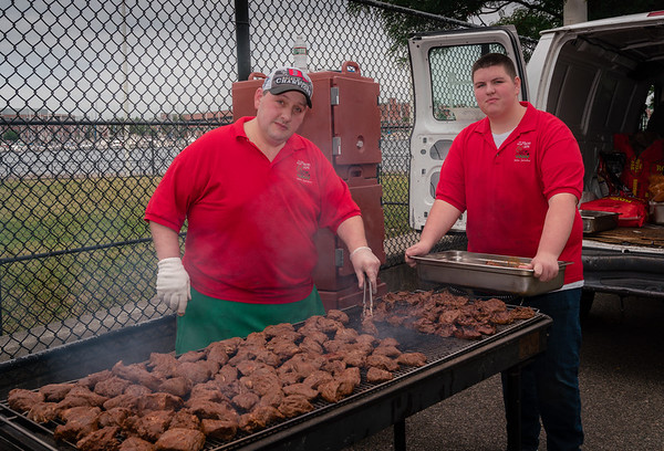 BBQ courtesy of J. Pace & Son, also a sponsor of the tournament