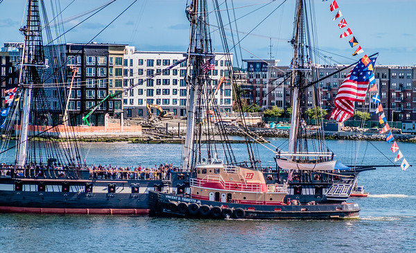 Close up of celebration on USS Constitution
