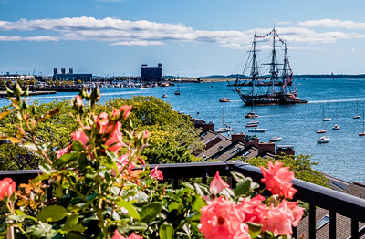 Boston Harbor from deck of flowers